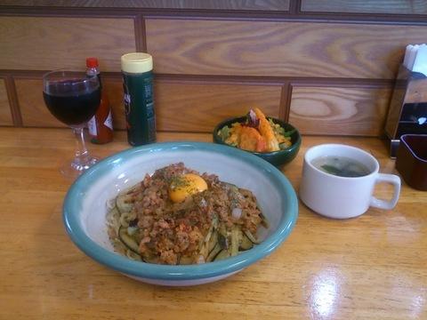 17-07-06(茄子と挽肉のパスタ+小鉢のサラダ&スープ).jpg