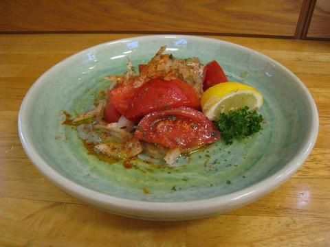 もぎたてトマトのサラダ:2017-07-27.JPG